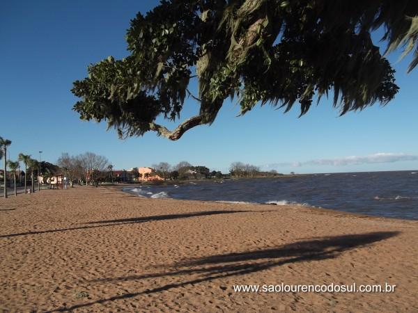 Orla da praia de São Lourenço do Sul